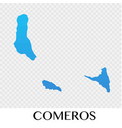 comeros map in africa continent design vector image vector image