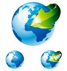 earth globe vector image vector image