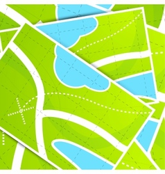 Map background pattern vector image