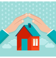 protect house vector image