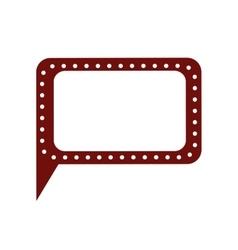 retro speech bubble isolated icon design vector image vector image