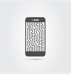 smart phone icon vector image vector image