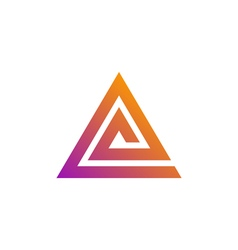triangle logo template vector image vector image