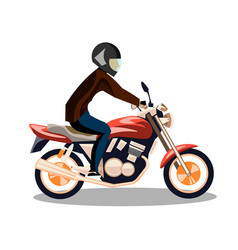 motorcyclist on a motorcycle isolated vector image