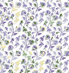 Seamless Colorful Floral Texture vector image