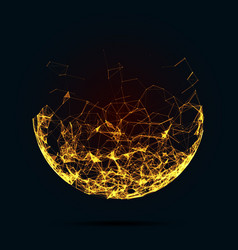 Abstract mesh spheres Futuristic vector image vector image