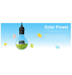 Energy concept background with solar panel vector
