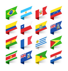 flags of the world south america vector image