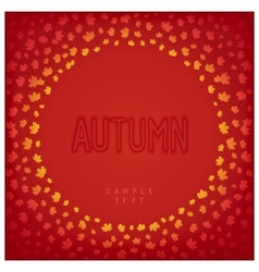 Greeting autumn card vector image vector image
