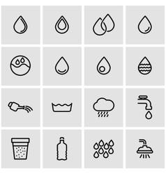 line water icon set vector image vector image