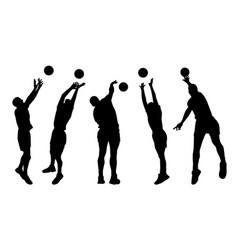 men volleyball players vector image vector image