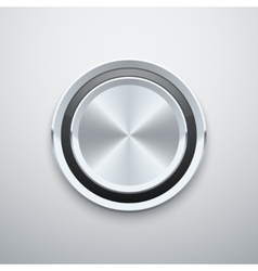 Realistic metal chrome silver steel round vector image