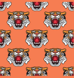 seamless pattern of cartoon vector image vector image