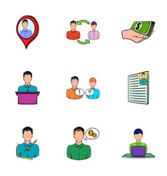 work candidate icons set cartoon style vector image vector image