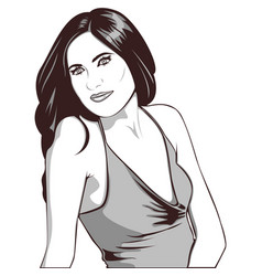 beauty woman portrait vector image vector image
