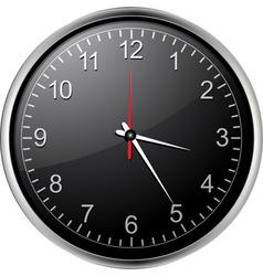 black clock vector image
