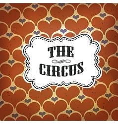 circus hearts pattern retro vector image vector image