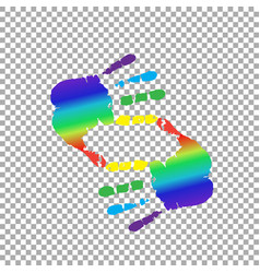 Cropping symbol made of rainbow hands and copy vector