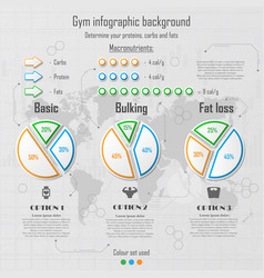 infographic for gym vector image