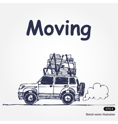 Moving vector image vector image
