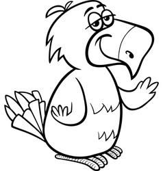 parrot bird cartoon coloring page vector image vector image