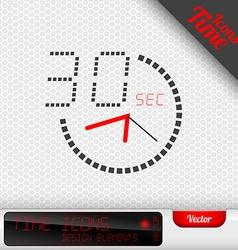 Time Icon 30 Seconds Symbol Design Elements vector image