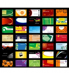 various business cards vector image vector image