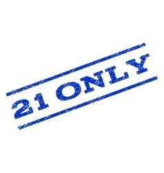 21 Only Watermark Stamp vector image