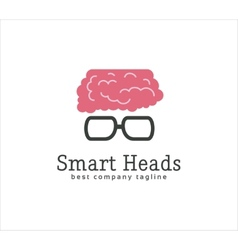 Abstract smart head with glasses logo icon concept vector image
