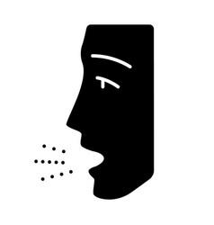 Allergy symptom glyph icon vector