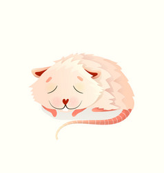 Baby animal mouse or any rodent sleeping deep vector