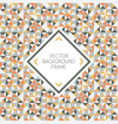 background of geometric triangle shapes pattern vector image