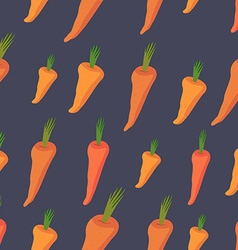Background of Orange carrots seamless pattern of vector image
