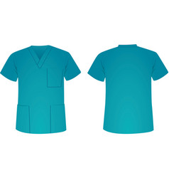blue medical uniform vector image