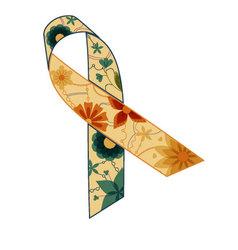 Blue-yellow-ribbon-retro vector image