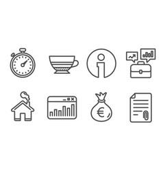 Business portfolio money bag and marketing vector