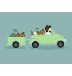 Businessman catching money vector