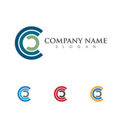 c letter logo template vector image