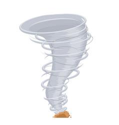 cartoon climate threat tornado destructive wind vector image