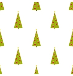 Christmas background with fir trees Hand drawn vector image