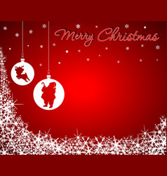 Christmas Background with Santa Baby Reindeer vector image