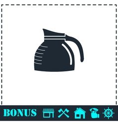 Coffee maker icon flat vector