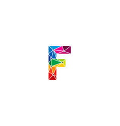 color letter f logo icon design vector image