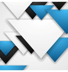 Corporate abstract tech triangles background vector