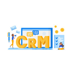 crm customer relationship management concept vector image