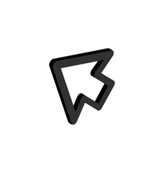 Cursor function icon isometric 3d style vector image