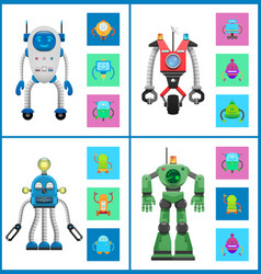 Cybers collection robots vector
