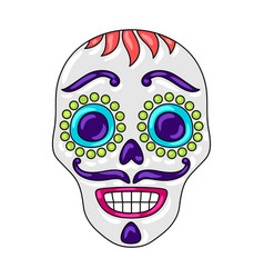 day dead sugar skull vector image