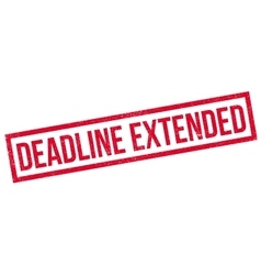 Deadline Extended rubber stamp vector