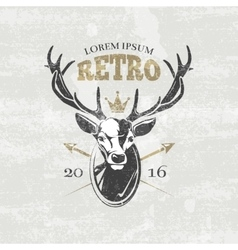 Deer hunters club badges labels logos vector